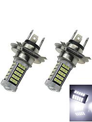 2x 12v-24v ampoule de voiture blanche 60 cms 2835 + 3 3535smd h4 Lampe LED des phares antibrouillard avec objectif