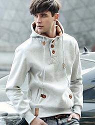 Men's fleece sets man pure color fashion fleece jacket