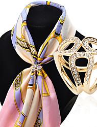 moda incrustaciones de diamantes de tres anillos de hebilla bufanda