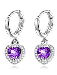925 Sterling Silver Color CZ Stone Earring Fashion Silver Jewelry