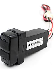 Dual USB AUX порты приборной панели быстрого зарядного 5V для mitsubtshi автомобиля