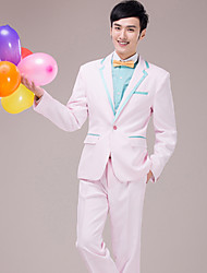 Men's Suits for  Performances    Presided over   Wedding    Party   Important Occasions   Pink    Suit     Set   4490