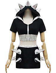 poliéster negro traje de sirvienta tipo8
