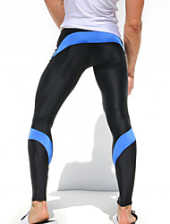Men's Sport Sexy Tight Pants Gym Ankle Length Pants Male Athletic Trousers Casual Sweatpants Stretch Active Pant AQ019