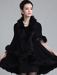 Wedding  Wraps / Fur Coats / Hoods & Ponchos Capes Sleeveless Faux Fur / Imitation CashmereBlack / Burgundy / White / Chocolate / Royal