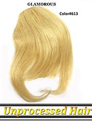 1 год гарантии 1шт / много европейская марка 7а девственных человеческого волоса fringle / взрыва