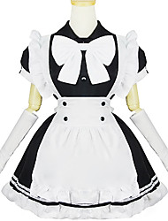 White and Black Polyester Navy Costume