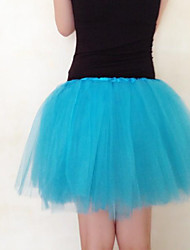 Slips Ball Gown Slip Knee-Length 3 Tulle Netting White / Black / Red / Blue / Purple / Green / Pink / Orange