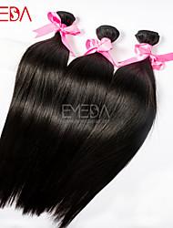 3pcs / lot 8 '' - 30 '' raw brasilianisches reines Haar silk gerade Menschenhaarverlängerungen natürliches schwarzes Menschenhaar spinnt