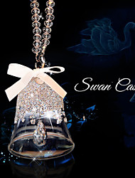 Christmas Star Crystal Ornaments Classic  Car Pendant Edition Ornament Mirror Pendant Hanging Swan Castte