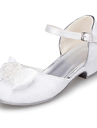 Girls' Shoes Outdoor / Casual Round Toe  Flats Ivory