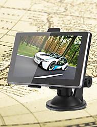 """carro 5 """"gps fm tela sensível ao toque de navegação ram 128mb mtk 4gb + américa nós mapa"""