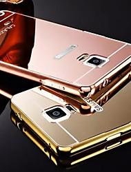 Для Samsung Galaxy Note Покрытие / Зеркальная поверхность Кейс для Задняя крышка Кейс для Один цвет Металл SamsungNote 5 / Note 4 / Note