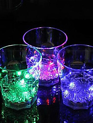 12*8.3CM Christmas Colorful Flash Light Plastic Induction Cup Water To Shine Light LED Lamp 1pc