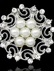 Broche de flor de luxo (cor aleatória)