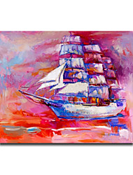 Pink Color Acrylic Modern Europ Design Fashion Handmade Oil Painting Framed