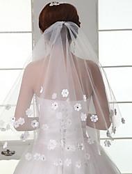 Wedding Veil One-tier Blusher Veils / Fingertip Veils Cut Edge
