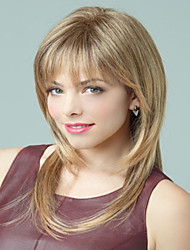 Blonde Synthetic Medium Wigs To European Women Lady In Stock