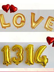 16Inch Multicolor Foil Letter Balloons 10pcs  Letter Shaped Ballons Party