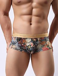 miesten alusvaatteet matala vyötärö boxers kuninkaallinen tulostus miesten alusvaatteet valitus persoonallisuus