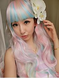 mejores venta de color mixto pelucas cosplay sintéticas