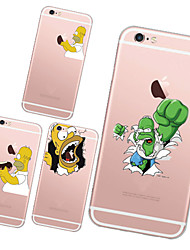 For iPhone 7 MAYCARI®Super Simpson TPU Back Case for iPhone 6/iphone 6S