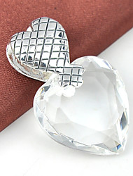 Pendants Heart Heart Gem Silver Plated Women Men