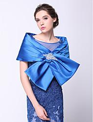 Wraps de mariage Capelets Sans manches Polyester Bleu royal Mariage / Soirée