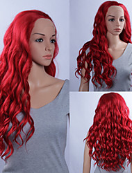 Fashion Synthetic Wigs Lace Front Wigs 32inch Loose Wave Red Heat Resistant Hair Wigs Women