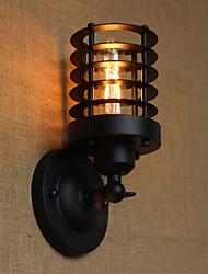 40w 110-240 retro elegante y sencillo de noche negro pasillo escaleras balcón aplique de la pared decorativa