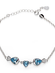 925 Sterling Silver Bracelet with crystal