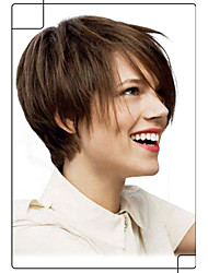 New Arrival Hand Tied -Top Virgin Remy Human Hair Short Straight Capless Wigs