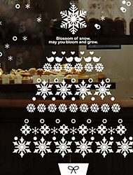 Christmas / Fashion Wall Stickers Plane Wall Stickers , PVC 42*63cm Collage Size 65 * 72 Cm Wide