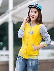 Women's Casual/Daily Sexy Hoodies Print Pink / Yellow / Purple Others