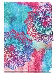 7 pouces motif de fleur support universel étui de protection pour iPad mini-3/2/1/4