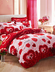 Han Edition Cotton Fashion Four-piece Sweet Love Bedding Set