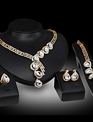 Women Vintage Gold Plated Necklace / Earrings / Bracelet / Ring Sets