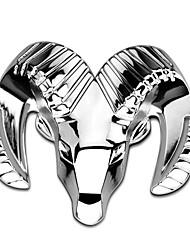 Car Styling 3D Zinc Alloy Chrome Matal Emblem Badge Sticker Refitting Auto Decal Decoration Logo Silver for Dodge