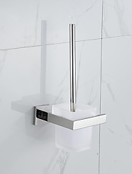 Contemporary 304 Stainless Steel Mirror Polished Wall Mounted Toilet Brush Holder