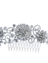Flower Hair Comb Hairpins Tiara for Bridal Wedding Party Hair Jewelry Accessories with Rhinestone Crystals