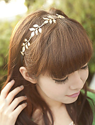 Women Vintage Metal Leaves Headband Hair Bands Hair Accessories