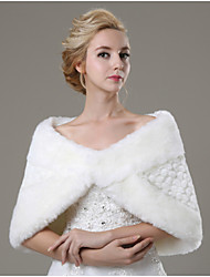 Fur Wraps / Wedding  Wraps Shawls Sleeveless Faux Fur Ivory Wedding / Party/Evening / Casual Hidden Clasp