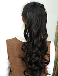 Natural Black Synthetic Ponytail Wavy Tape In Ponytail 40-65CM gram Medium(90g-120g) Quantity