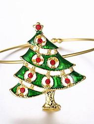 pulseira de liga de árvore de natal
