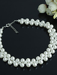 Women's Fashion Exquisite Simplicity Handmade Beaded Pearl Necklace