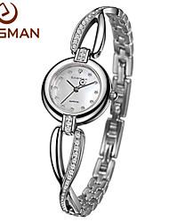EASMAN Women Watch White Crystal Bracelet Natural Seashell Dial Blue Quartz Watch Sapphire Glass Female Wrist watch