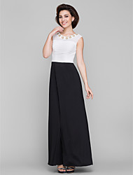 Lanting Bride® A-line Mother of the Bride Dress Ankle-length Sleeveless Chiffon / Jersey with Beading / Ruching