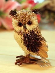 Handmade Crafts Straw Owls Christmas Decorations
