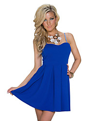 Girls Night Women's Color Block Blue / Pink / Black / Beige Dresses , Sexy / Casual / Party Mid Rise Sleeveless