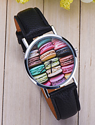 French Macarons Madness Watch , Vintage Style Leather Watch, Women Watches, Unisex Watch, Boyfriend Watch,Men's Watch